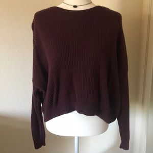 Hollister burgundy knitted sweater